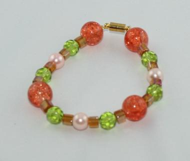 Armband Orange-Grün