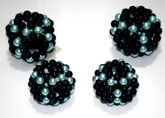 Schildsatz aus 4 Oktagon Perlgoniten 2 x 5 cm & 2 x 6 cm